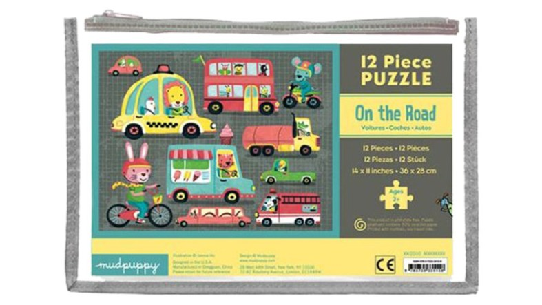 Easy 12 piece puzzle from Mudpuppy in a bag.