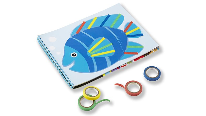 Painters tape activities and other coloring activities are great for long distance travel activity.