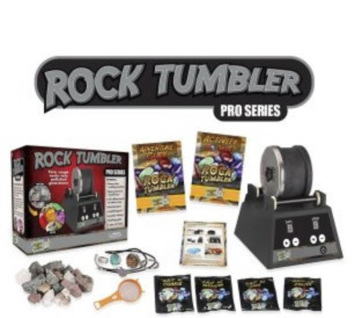 Rock tumbler for kids. Comes with rocks that turn into polished gems. A very cool way to learn more about Geology and how ordinary looking rocks can turn into priceless gem.