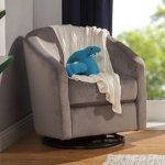 The BabylettoMadison Nursery Glider and Rocker in slate color. Fits well for a small nursery