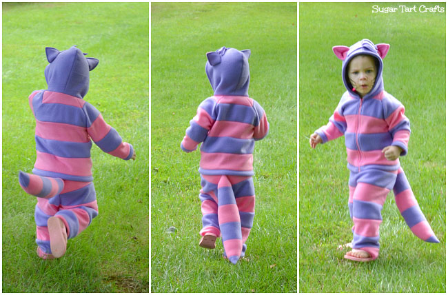 Blue and pink cheshire cat costume for toddlers