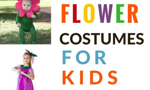 Ideas For Pretty And Easy Flower Costumes For Kids This Halloween (or pretend play!)