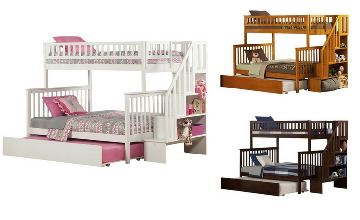 3 different finish of the Shyann bunk bed: white, walnut and caramel. Which one do you like the most?