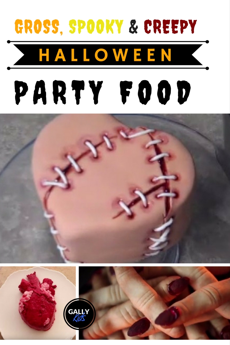 Here's a stitch-up cake, fancy eating it? That's what these creepy halloween party food are going to be like. Here are 13 of the scariest, creepiest, grossiest ones you can make.