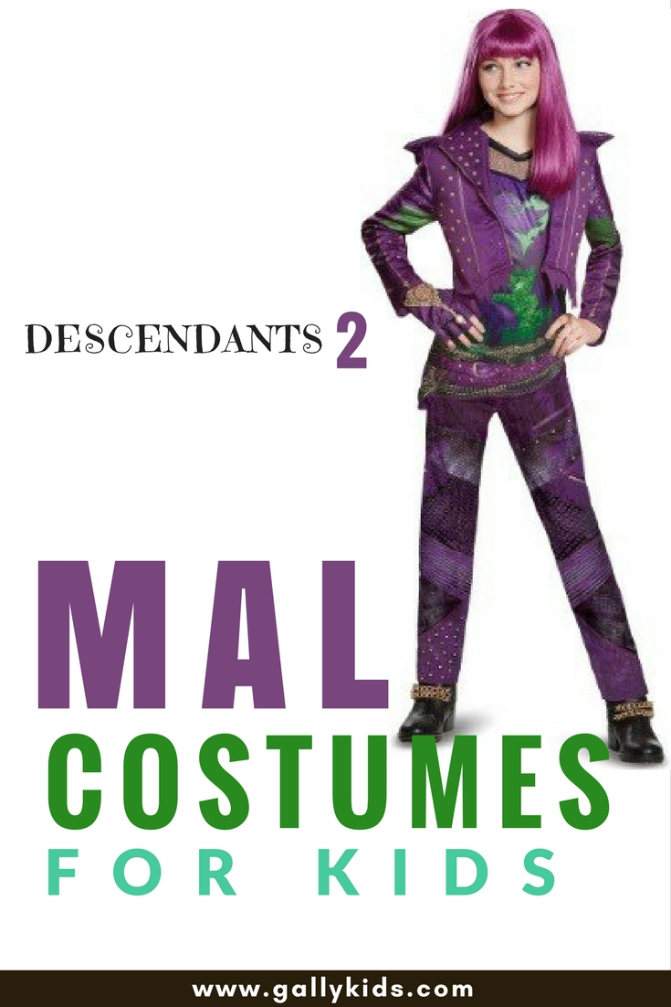 Get your wicked on with a descendants 2 mal costume kids are going to love this mal costume so cute solutioingenieria Images