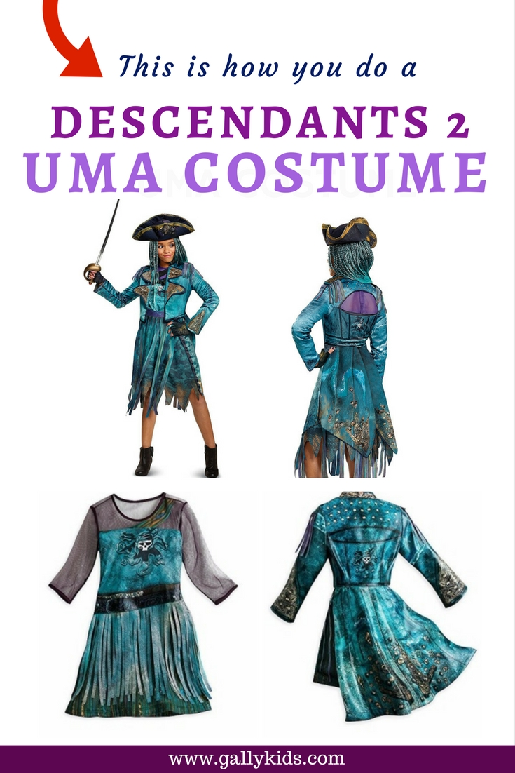 Get your wicked on with a descendants 2 mal costume this is how you do a descendants 2 uma costume diy instructions solutioingenieria Gallery