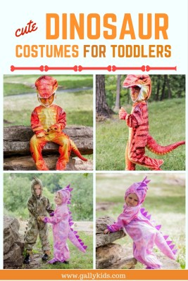 Dinosaur costume for toddlers and preschoolers. Whichever color you want: blue, red or green dinosaur, it's included on this list.