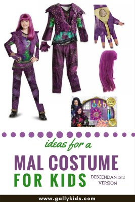 The outfit has slightly change and so has the hair. These are the two things to remember if your kid is doing a Mal outfit this year.