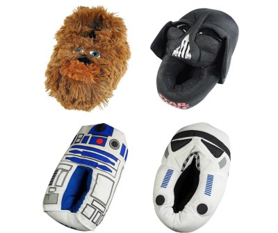 Star Wars Slippers. Apart from the Storm trooper slippers, other Star Wars related designs are also available like r2d2, and Darth vader