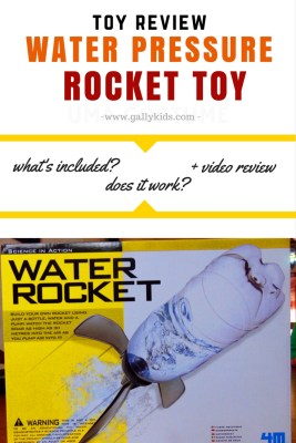 Review of the 4M water rocket toy. Know what's included in the box and see if it really works. Also has a video review.