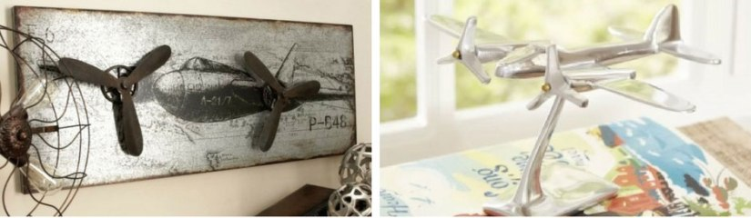 A wall decor for an aviator nursery. Great for an accent piece and super cool