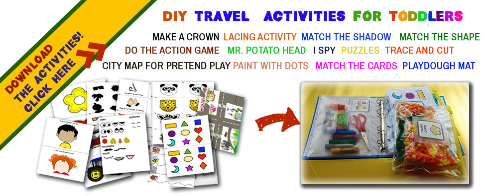 Make your own DIY travel binder using these 13 activities that toddlers love to do.