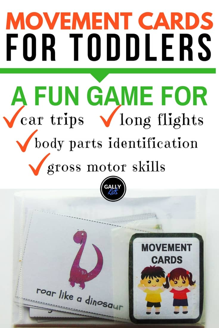 Movement Cards: A Fun Travel Activity For Toddlers