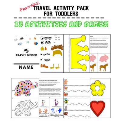 Fun activities that toddlers can do while traveling by car or in airplanes.