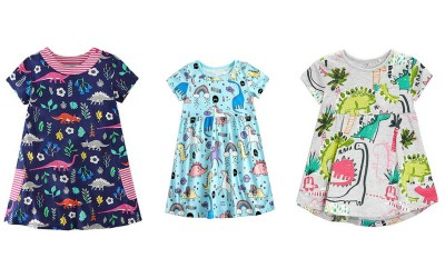 How adorable are these dinosaur dresses for a toddler girl? Do you have a toddler who's a Dinosaur train fan? Here goes the best present you can give her.