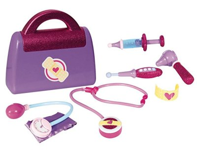 Doctor's play kit for 2 year olds. This one is Doc Mcstuffins but any Doctor kit toys are great for pretend play -- which are great for developing creative skills and their imagination.