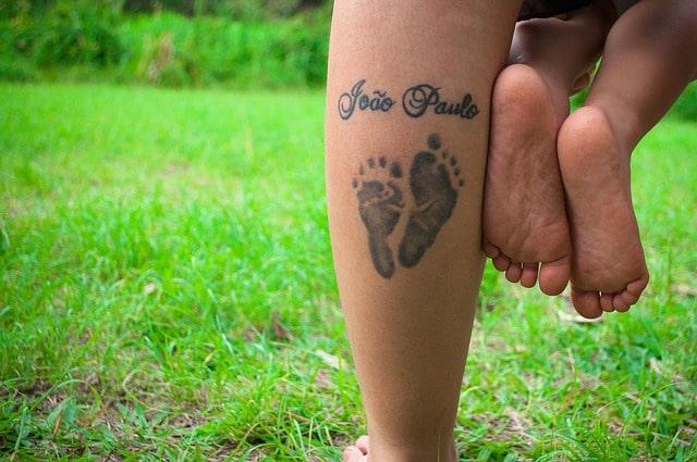 tattoo child feet