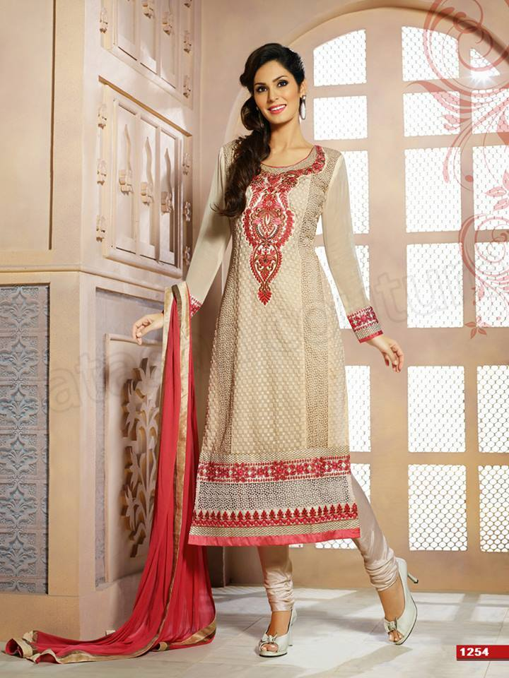 Pakistani & Indian Straight Cut Salwar Suits Designs Latest Collection 2015-2016 (12)