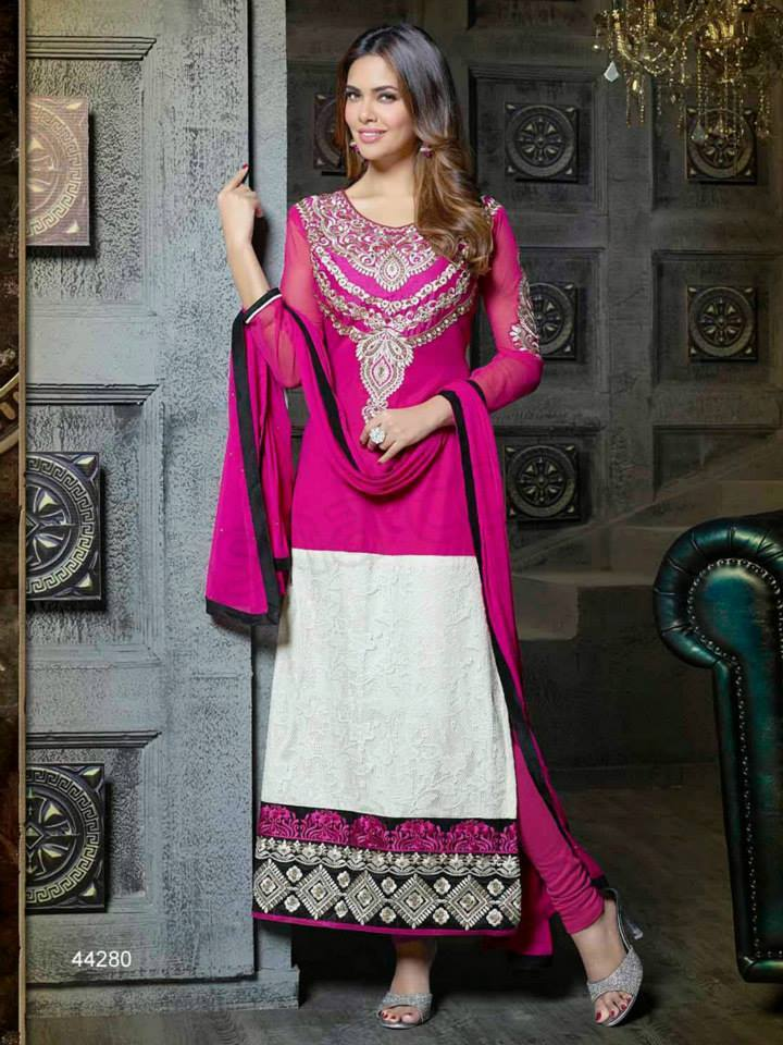Pakistani & Indian Straight Cut Salwar Suits Designs Latest Collection 2015-2016 (17)