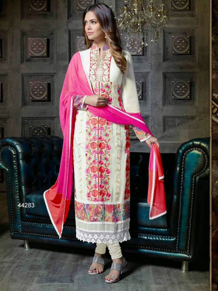 Pakistani & Indian Straight Cut Salwar Suits Designs Latest Collection 2015-2016 (18)