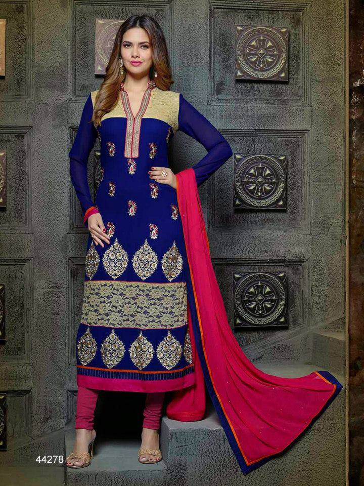 Pakistani & Indian Straight Cut Salwar Suits Designs Latest Collection 2015-2016 (2)