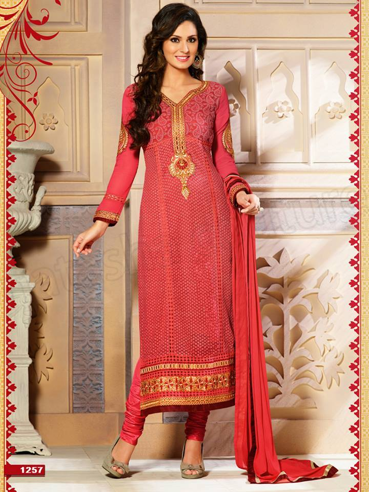 Pakistani & Indian Straight Cut Salwar Suits Designs Latest Collection 2015-2016 (20)