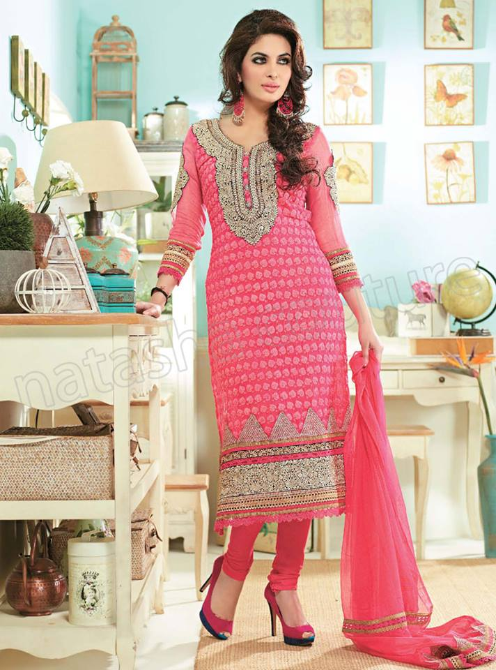 Pakistani & Indian Straight Cut Salwar Suits Designs Latest Collection 2015-2016 (24)