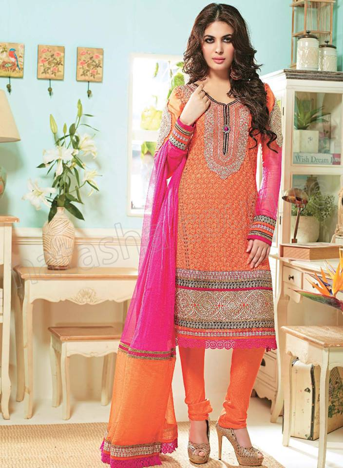 Pakistani & Indian Straight Cut Salwar Suits Designs Latest Collection 2015-2016 (31)