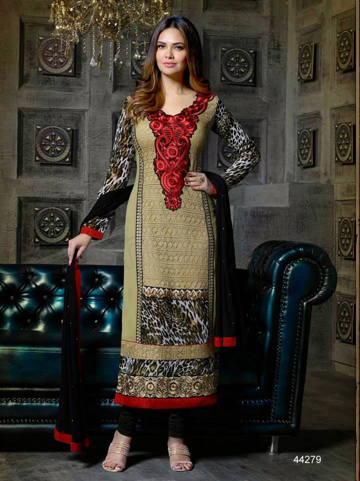Pakistani & Indian Straight Cut Salwar Suits Designs Latest Collection 2015-2016 (4)