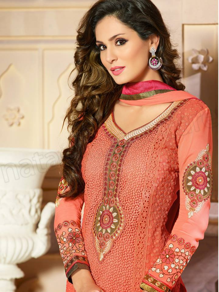 Pakistani & Indian Straight Cut Salwar Suits Designs Latest Collection 2015-2016 (9)