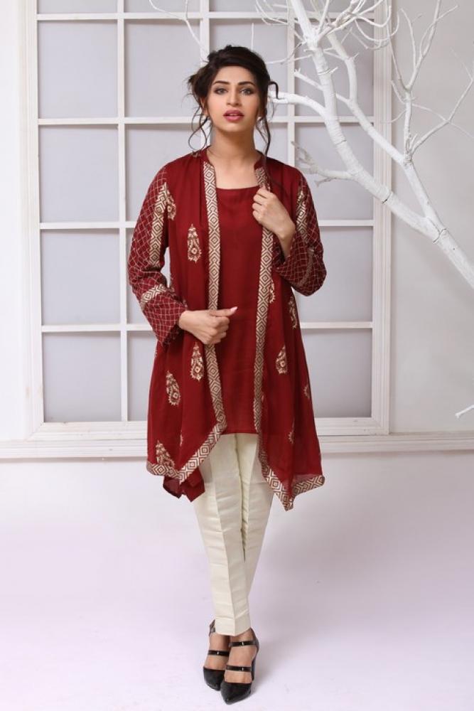Latest Women Kurta Styles Designs 2018-19 by Change Kurta Collection (2)