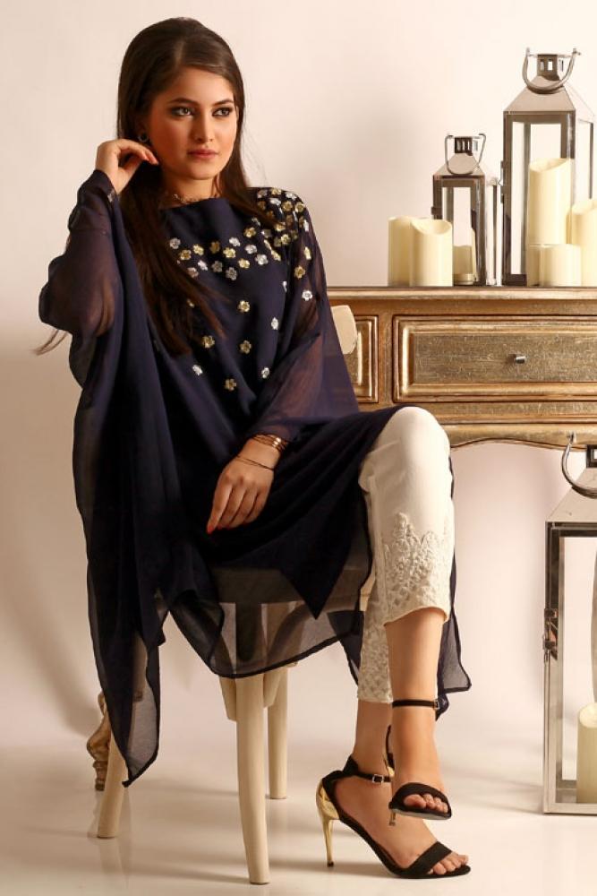 Latest Women Kurta Styles Designs 2018-19 by Change Kurta Collection (4)