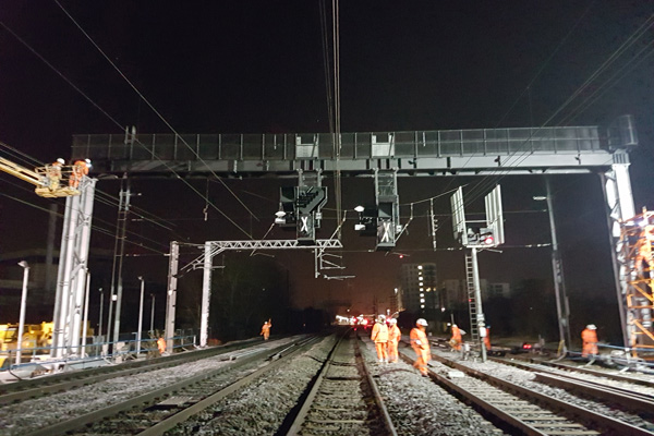 Crossrail West Gantries, London - Global Rail Construction