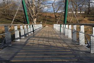 Footbridge over River Tweed