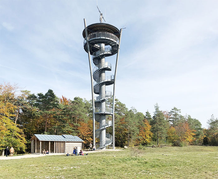 Pottensteiner Himmelsleiter galvanized radio tower
