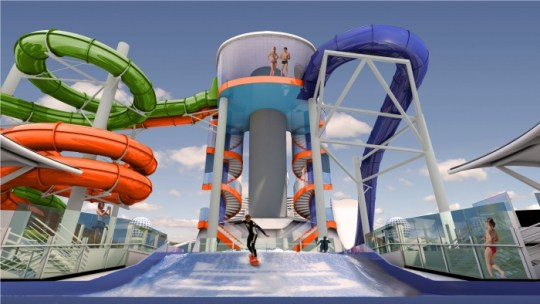 Liberty of the Seas waterslide
