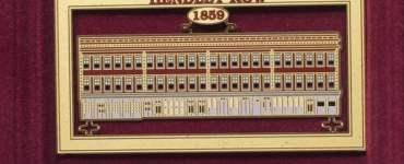 1859 Hendley Row Brass Ornament