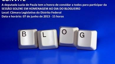 Convite Sessão Solene em homenagem ao dia do blogueiro