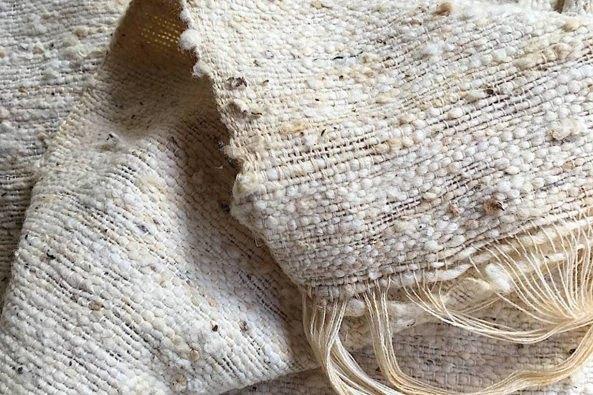 Hand woven cotton