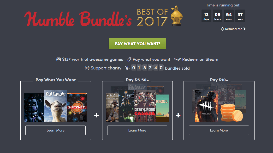 Humble Bundle's Best of 2017 Bundle - Gambit Magazine