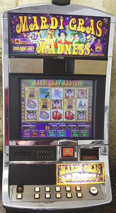 Mardi Gras Madness Williams Bluebird 1 Slot Machine by WMS for sale