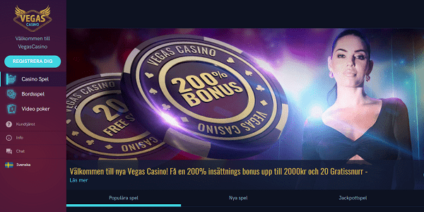 vegas casino Bästa Online Kasinon i Sverige för 2018.