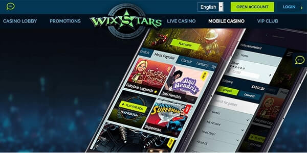 Wixstars Casino Online Review