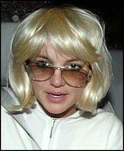 Britney in wig