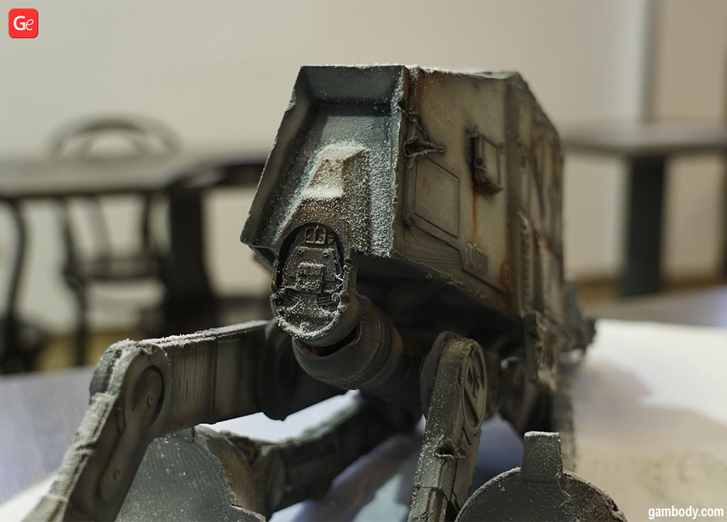 3D printed articulated AT-AT Walker Star Wars figure