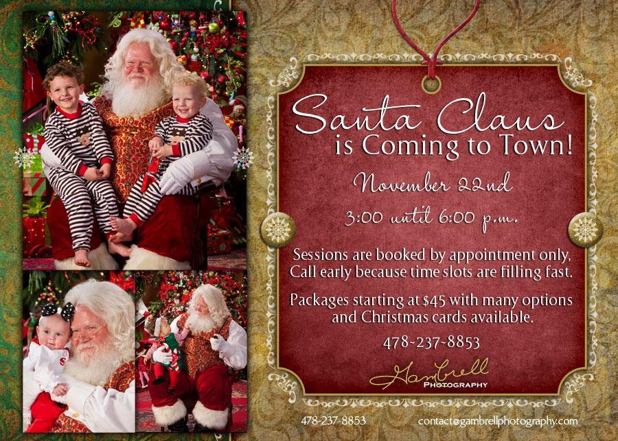 Santa Is Coming Gambrell Photography