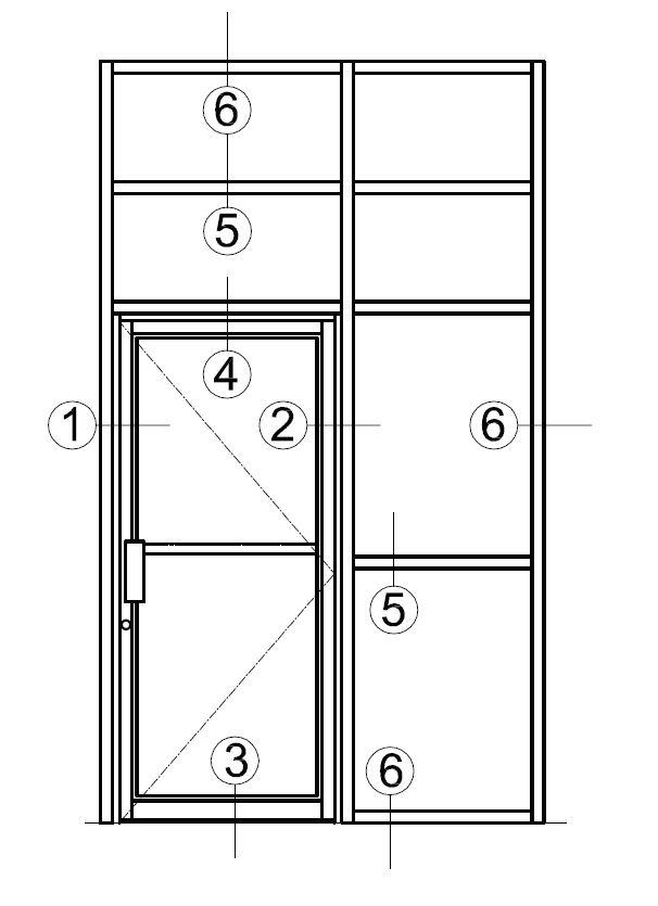 2.5×3.875 Member With Narrow Stile Door
