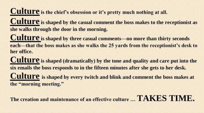 culture tom peters