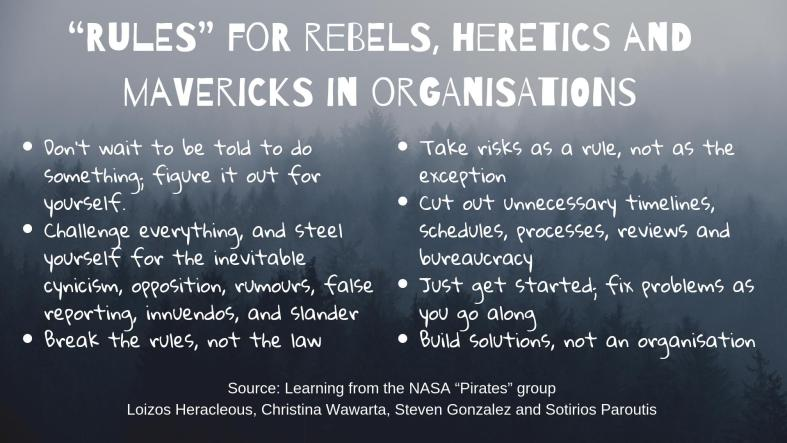 rules for rebels in organizations