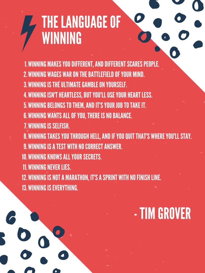 Tim Grover The Language of Winning
